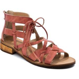 New Latigo Strappy Ramona Tie Sandals Sienna